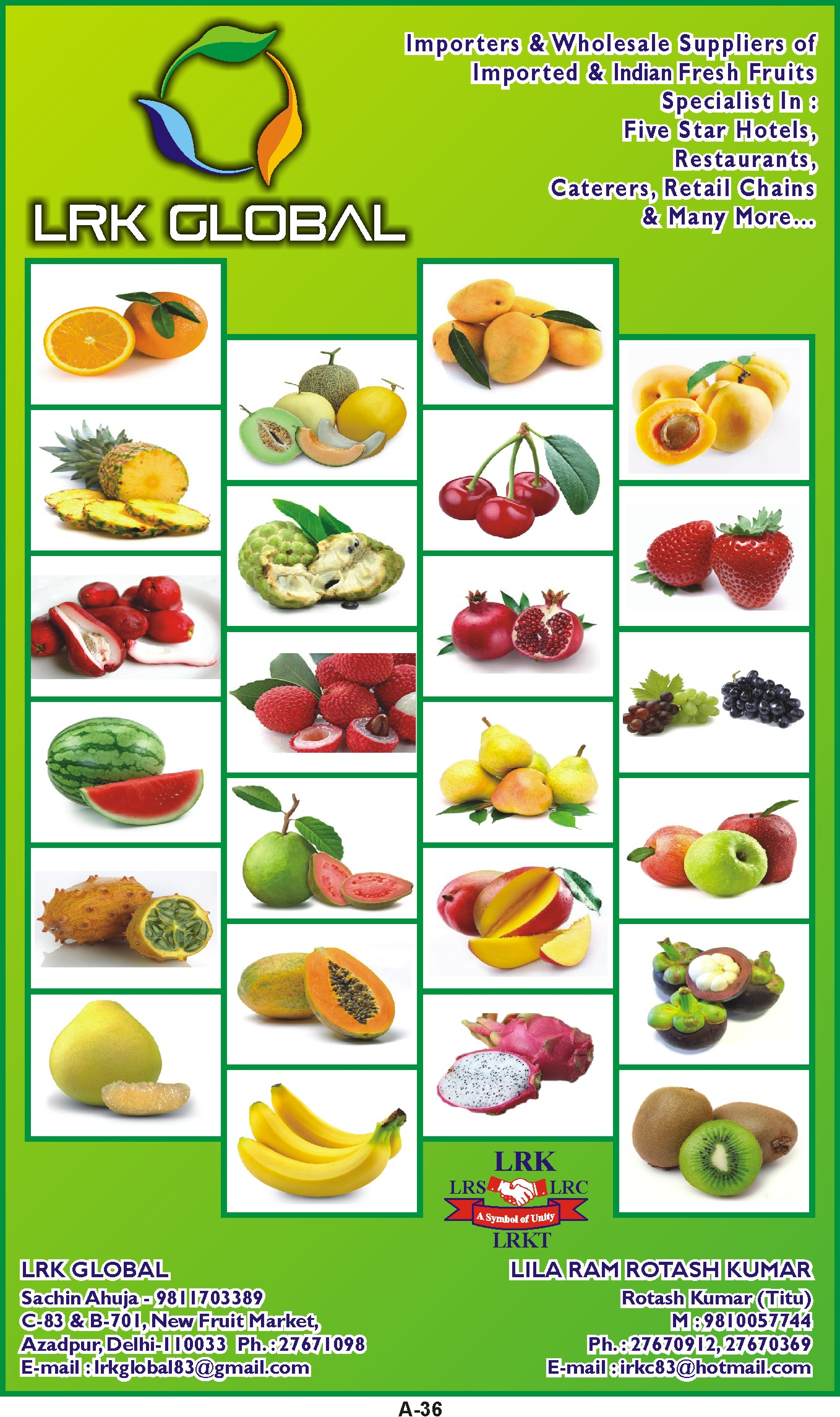 LRK GLOBAL | Fresh Fruits & Vegetables Suppliers | Food and