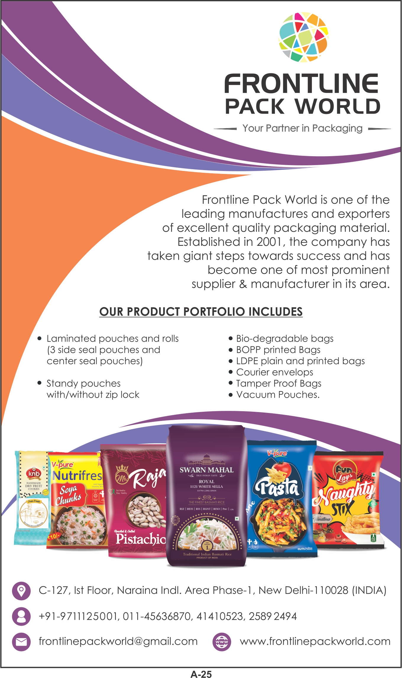 FRONTLINE PACK WORLD   Food Packaging Products   Food and FMCG ...